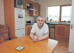 Mr Tuohy in his kitchen. Photo: JAMES FLYNN