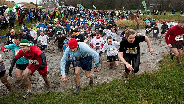 Participants battle their way through the 10km obstacle course in Killruddery Estate, Co Wicklow