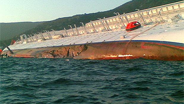 A 30 metre gash was visible in the hull of the cruise ship