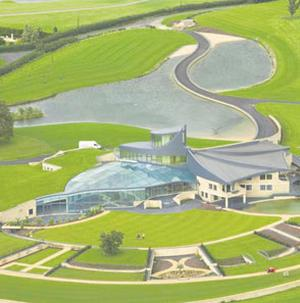 HOME SWEET HOME: David McMurtry's spectacular eco-house in which he has never lived. It is located in Gloucestershire on the edge of the Cotswolds, and includes a swimming pool, squash courts and large garage