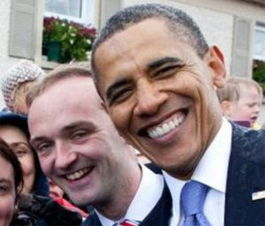 Henry Healy pictured with Barack Obama during the President's visit to Ireland