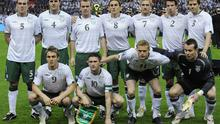 Irish players pose for their pre-match team photograph. Photo: Getty Images