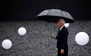 Armani brand founder Giorgio Armani is pictured ahead of his fashion show in Beijing