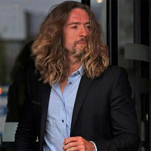 Justin Lee Collins leaves St Albans Crown Court in Hertfordshire, where he faced trial accused of harassing former girlfriend Anna Larke. Photo: PA