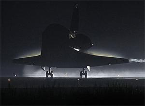 The Space Shuttle Atlantis lands at the Kennedy Space Center at Cape Canaveral, Florida. Photo: AP