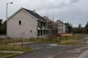 The substantial detatched houses, which could sell for over €400,000 each, have been under construction since 2004. Photo: Press 22