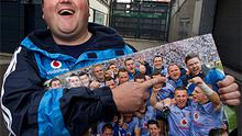 Stephen Molloy, 27, was the only fan to get onto the field as Dublin celebrated winning the All-Ireland.