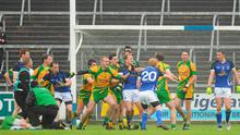 Players from both sides get involved in an altercation during the Donegal v Cavan Ulster SFC quarter-final at Breffni Park yesterday Photo: PAT MURPHY/SPORTSFILE
