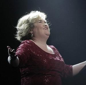 Susan Boyle took to the stage at the end of the opening night of I Dreamed A Dream