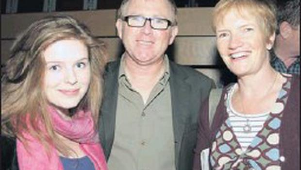 Shannon Smythe, Paul Smythe and Shelia Kissane at the launch of the guide to the Wexford Festival Fringe Events.