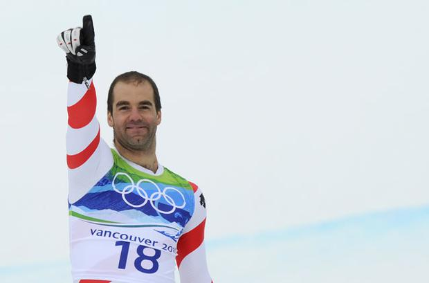 Didier Defago became the oldest winner of the men's downhill skiing Photo: Getty Images