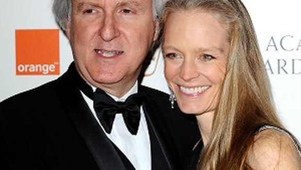 James Cameron, pictured with wife Suzy Amis, has joined Twitter