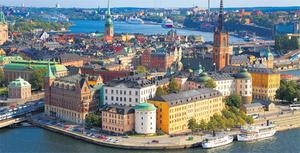 The Swedish capital of Stockholm is built on an archipelago of islands, connected by bridges.