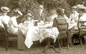 THEN AND NOW: Over the generations the size of the typical Irish middle-class family meal has shrunk dramatically - in 1878, five-courses were the norm - yet our waistlines have grown Photo first published between 1904 and 1910, courtesy National Library of Ireland Photographic Archive