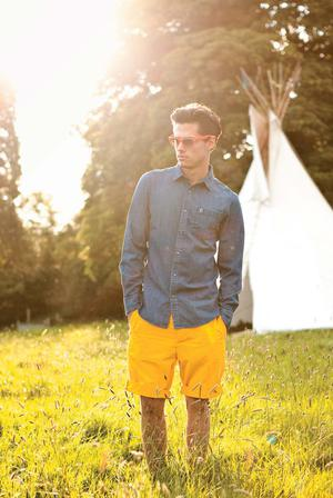 Shirt, RRP €80, now €31, Ted Baker. Shorts, RRP €74, now €39, Jack Wills. Sunglasses, RRP €146, now €97, Ray-Ban, David Clulow