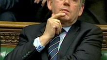 Former British PM Gordon Brown broke his silence on the News International hacking scandal in the House of Commons yesterday. Photo: Reuters