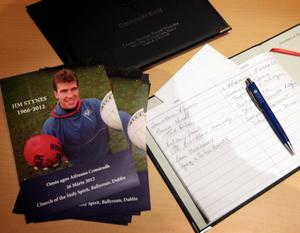 26/3/12 Memorial mass for Jim Stynes who died last week following his battle against cancer, at Ballyroan, Dublin. Picture:Arthur Carron/Collins