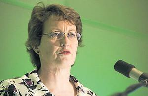 Association president Aine O'Neill addressing delegates at the NAPD conference in Kilkenny yesterday