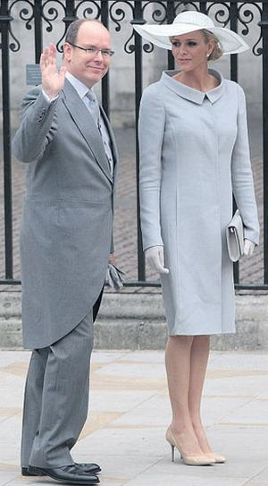 Prince Albert of Monaco arrives with his fiancee Charlene Wittstock at Westminster Abbey