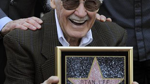 Comic book creator Stan Lee has recieved a star on the Hollywood Walk of Fame