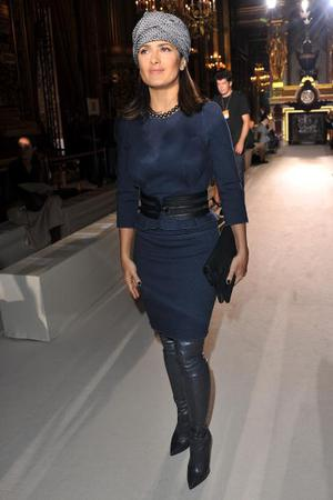 PARIS - OCTOBER 04:  Salma Hayek attends the Stella McCartney Ready to Wear Spring/Summer 2011 show during Paris Fashion Week at Opera Garnier on October 4, 2010 in Paris, France.  (Photo by Pascal Le Segretain/Getty Images)