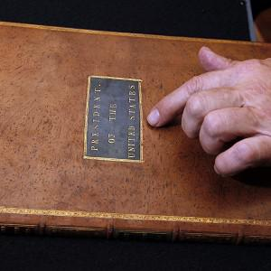 President George Washington's personal copy of the Acts of the first Congress (AP/Alex Brandon)