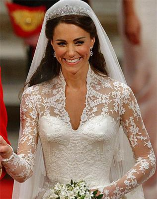 Carrickmacross Lace is one of the key features of Kate Middleton's wedding dress. Photo: PA