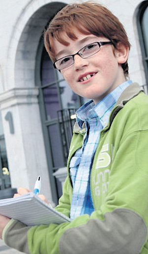 Aidan Corrigan (11) winner of the Irish Independent 'Search for a Young Reporter' competition, is from Kilmacomb, Dunmore East, Co Waterford.