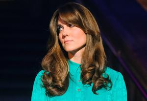 Britain's Catherine, Duchess of Cambridge with a fringe in 2012