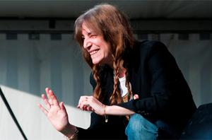 Patti Smith performing at the Cork X Southwest music and arts festival