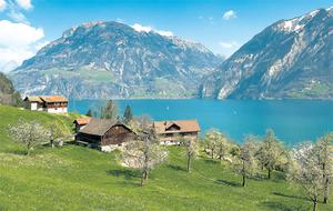 The classic Alpine scenery of Lake Lucerne. Photo courtesy of Swiss tourism