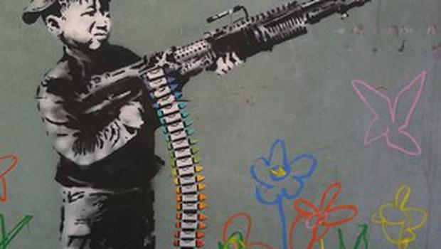A number of drawings across LA have been linked to Banksy