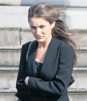 Patrick Moroney's girlfriend Claire Hayes outside Ennis Circuit Court