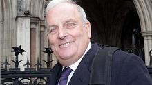Kelvin MacKenzie leaves the High Court after giving evidence to the Leveson enquiry