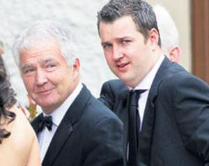 IT was like the good old Celtic Tiger days for Sean FitzPatrick yesterday as he rolled up at the K Club dressed in black tie for his son's wedding celebrations. Former Anglo Irish Bank chief Mr FitzPatrick smiled as he arrived with his son Jonathan for the wedding of another son, David, to Barbara Clear, the niece of tycoon Michael Smurfit.