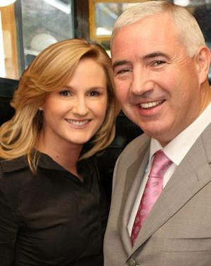 Gayle Killilea and her husband, developer Sean Dunne, who now live in the US