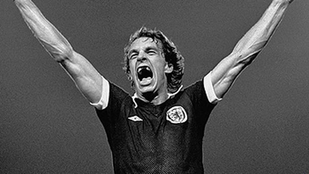 The 60-year-old former Scottish international striker was a formidable figure during his playing days and has lost none of his passion for the game