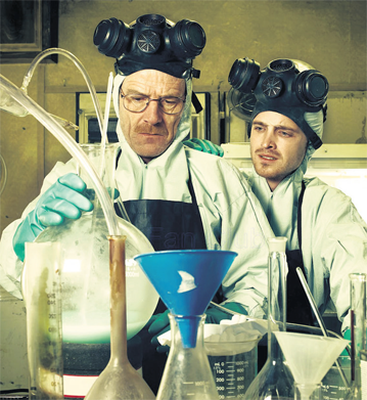 Breaking Bad: The programme tells the story of a struggling high school chemistry teacher who, when diagnosed with advanced lung cancer, turns to crime, producing and selling methamphetamine, known as crystal meth.