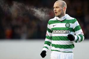 Freddie Ljunberg made his debut for Celtic on Saturday. Photo: Getty Images