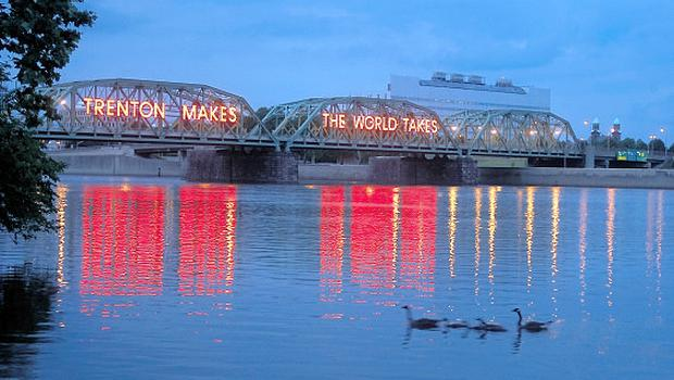 A bridge proclaims Trenton's industial prowess during the 1930s