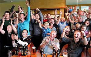 Wild celebrations erupted at Dungannon Golf Club as Darren Clarke holes his final put to become British Open Champion