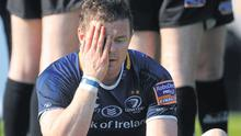 Brian O'Driscoll shows his disappointment after yesterday's defeat