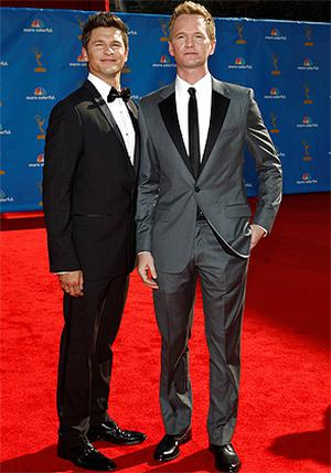 Actor David Burtka (left) and his partner, actor Neil Patrick Harris from the comedy 'How I Met Your Mother'. Photo: Reuters