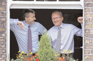Standard Life group chief executive David Nish and chief executive (Irl) Nigel Dunne