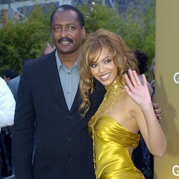 Beyonce Knowles with her father and former manager Mathew Knowles (AP)
