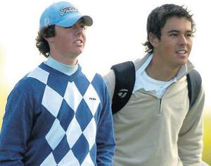 As caddie for his friend Rory McIlroy during the 2005 Irish Open