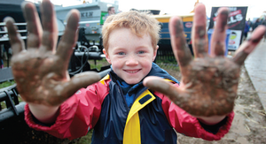Ciaran McCarthy (7), from New Ross, gets dirty.