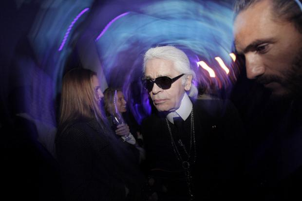 TOKYO, JAPAN - MARCH 23: Designer Karl Lagerfeld attends the Chanel Party on March 23, 2012 in Tokyo, Japan. (Photo by Adam Pretty/Getty Images for Chanel)