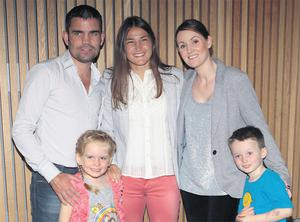 Bernard Dunne with his family and Katie Taylor