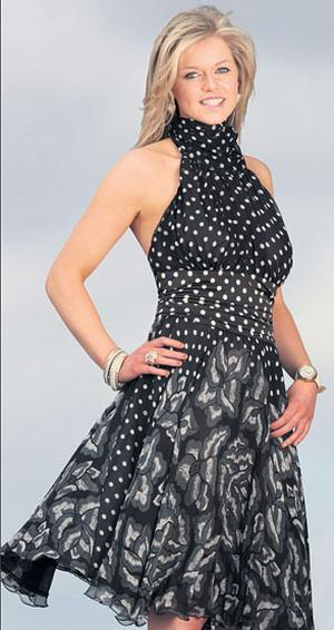 Katie wears an ensemble from Ruby Couture, Blackrock Shopping Centre, Co Dublin